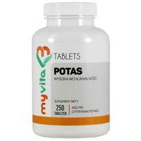 Tabletki POTAS (CYTRYNIAN POTASU), MYVITA 250 TABLETEK