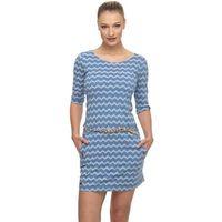 sukienka RAGWEAR - Tanya Zig Zag Blue (BLUE)