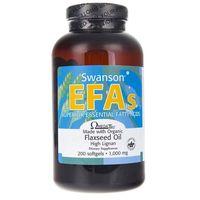Kapsułki Swanson Flaxseed Oil (Olej z siemienia lnianego) 1000 mg - 200 kapsułek