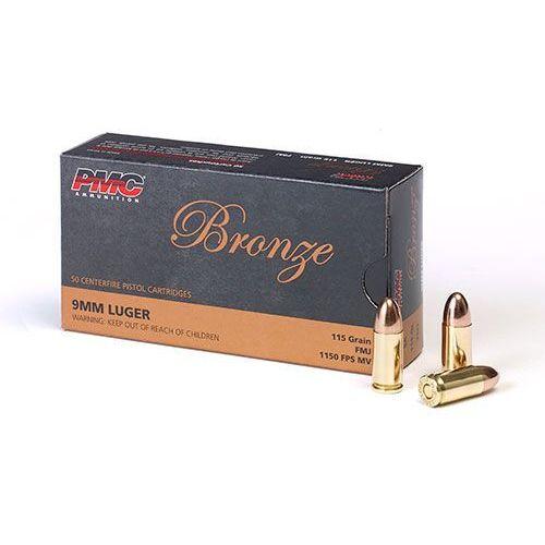 Amunicja 9mm luger 7,5 g/115 gr fmj marki Pmc