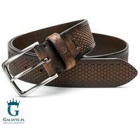 Brązowy pasek skórzany casual jeans Miguel Bellido 4990-40-1612-13