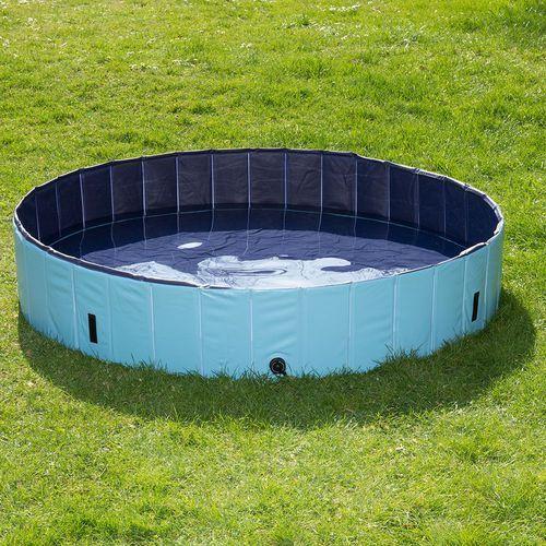 Dog Pool Keep Cool basen dla psa w super cenie! - Ø x wys.: 80 x 20 cm (z pokrywą)| Niespodzianka - Urodzinowy Superbox!| -5% Rabat dla nowych klientów| Darmowa Dostawa od 89 zł i Super Promocje od zooplus! (4054651604045)