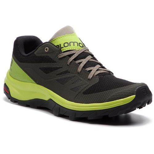 Salomon Trekkingi - outline 406189 27 m0 beluga/lime green/vintage kaki