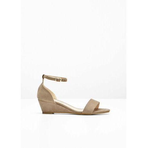 Sandały na koturnie brunatny, Bonprix, 35-42