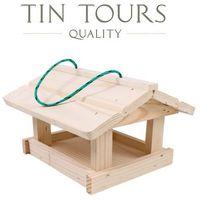 Drewniany karmnik dla ptaków 25x23x15 cm marki Tin tours sp.z o.o.