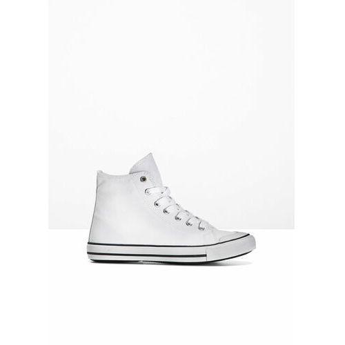 Wysokie sneakersy bonprix biały, kolor biały