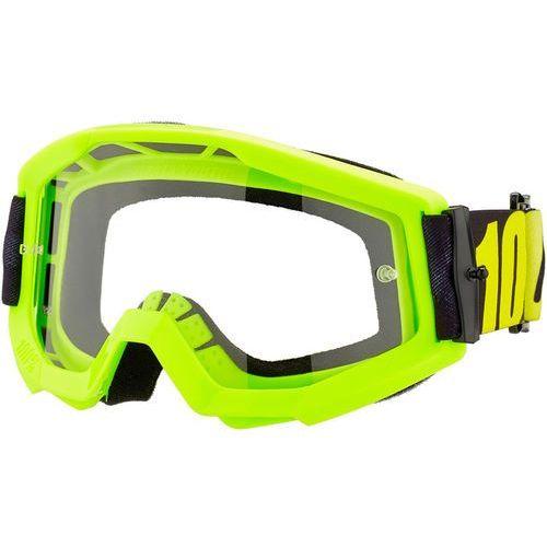 100% Strata Anti Fog Clear Gogle Młodzież, neon yellow 2020 Okulary przeciwsłoneczne dla dzieci