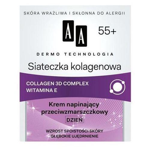 AA DERMO TECHNOLOGIA Siateczka kolagenowa 55+ Krem napinający przeciwzmarszczkowy DZIEŃ, 50 ml