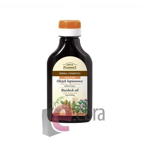 Green pharmacy hair care argan oil olejek łopianowy do włosów o działaniu regenerującym 100 ml