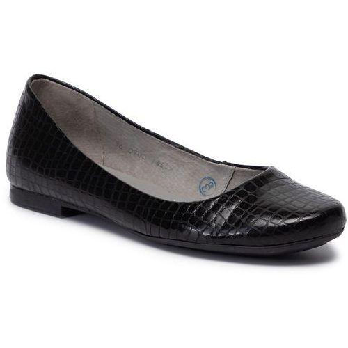 Baleriny MACIEJKA - 00903-51/00-5 Czarny Krokodyl, w 6 rozmiarach