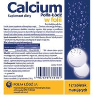 Tabletki CALCIUM Polfa-Łódź x 12 tabl. musujących