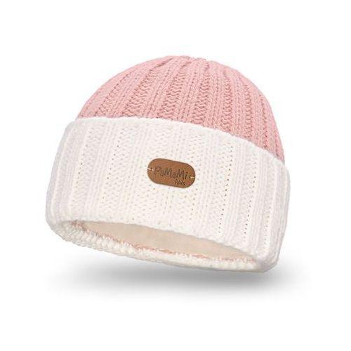Zimowa czapka dziecięca - ecru - ecru marki Pamami