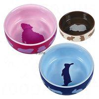 Trixie miseczki ceramiczne dla gryzoni - Ø 11 cm, 250 ml, dla królika (4011905607337)