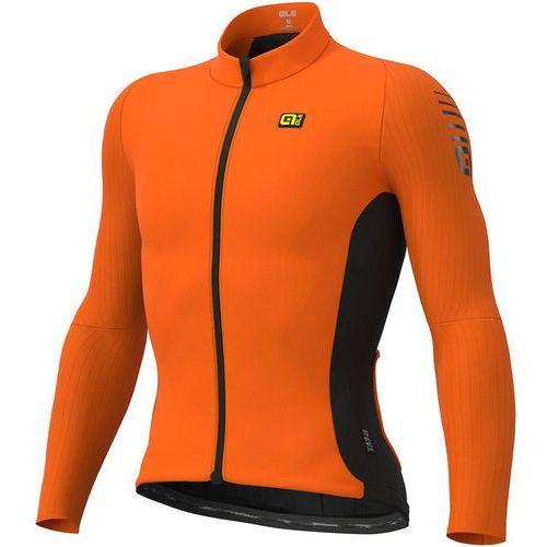 clima protection 2.0 warm race koszulka rowerowa z zamkiem błyskawicznym mężczyźni, fluo orange s 2019 koszulki kolarskie marki Alé cycling