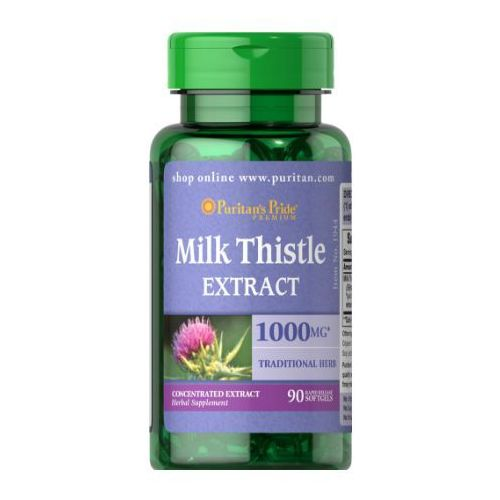 Puritan's Pride Ostropest Plamisty (Milk Thistle Extract) 1000 mg 90 kaps