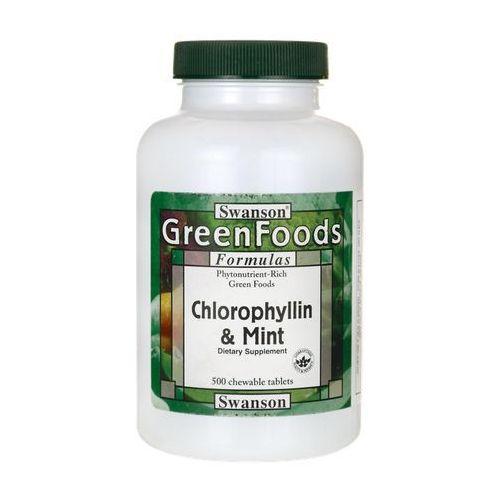 Tabletki Swanson Chlorofil z miętą 500 tabletek do ssania
