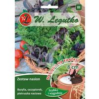 Legutko Zestaw nasion bazylia, szczypiorek, pietruszka naciowa na krążku 3 szt. 8cm