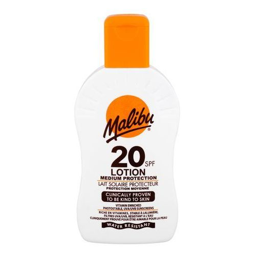 Malibu Lotion SPF20 preparat do opalania ciała 200 ml unisex - Super oferta