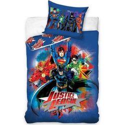 Dekoria Komplet pościeli Justice League, poszwa 160 × 200 cm, poszewka 70 × 80 cm