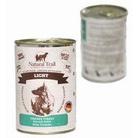 Natural trail light 400g karma w puszce dla psów kurczak indyk