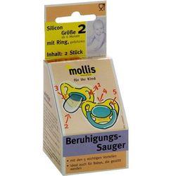Smoczek dla dzieci silikonowy od 6 miesiąca (2 szt.) - mollis marki Mollis (smoczki dla dzieci)