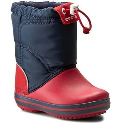 Crocs Śniegowce - crocband lodgepoint boot k 203509 navy/red