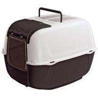 Ferplast Prima Cabrio Toaleta dla kota biało-czarna [72053899]