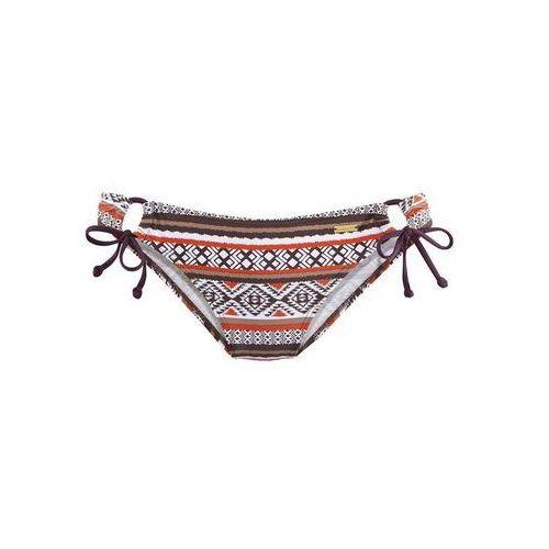 f33be0bc7a6e49 Zobacz w sklepie Dół bikini brązowy / czerwony / biały, Lascana, XXS-M