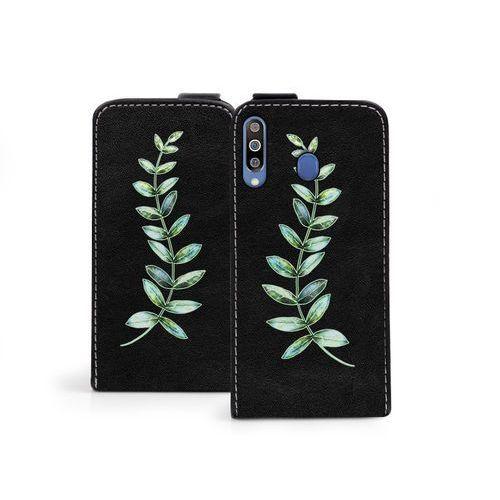 Samsung Galaxy M30 - etui na telefon Flip Fantastic - zielona gałązka