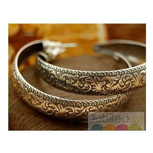 CYGANERIA - srebrne kolczyki koła, kolor szary