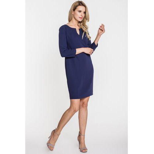 dab4bc9796 Zobacz ofertę Granatowa sukienka - Vito Vergelis