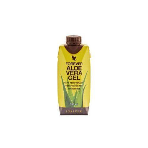 Forever living products Miąższ aloesowy, 99,7% soku z liści aloesu - forever aloe vera gel mini, opakowanie 330 ml