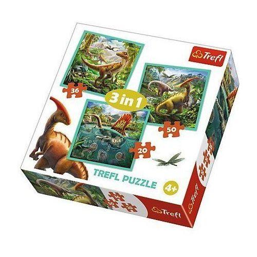 Trefl Puzzle 3w1 - niezwykły świat dinozaurów - darmowa dostawa od 199 zł!!! (5900511348378)