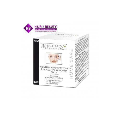 zastrzyk młodośći home care krem przeciwzmarszczkowy z kwasem hialuronowym spf 15 dzień 50ml marki Bielenda - fotografia produktu