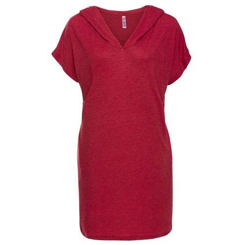 Sukienka shirtowa bonprix czerwony chili, w 8 rozmiarach