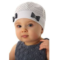 Marika Czapka niemowlęca biała100%bawełna5x34c3