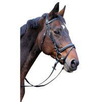 ogłowie wędzidłowe classic, skóra, czarne, rozmiar pony, 326137 marki Kerbl