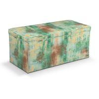 skrzynia tapicerowana, zielony, żółty, brązowy, 90x40x40 cm, urban jungle marki Dekoria