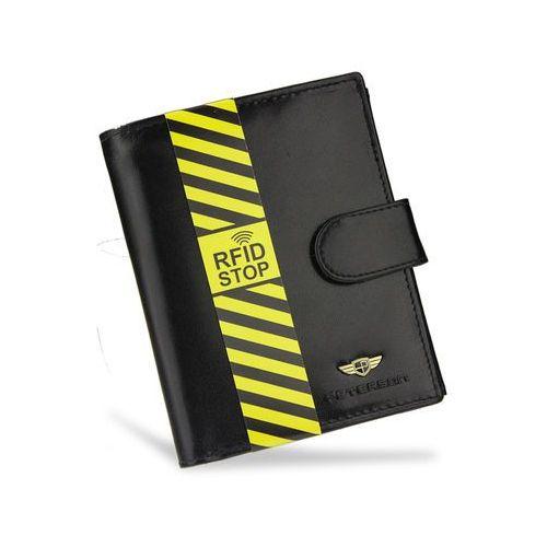 33bda8084b5cc Portfel męski skórzany czarny zapinany ochrona rfid stop 339z marki Peterson