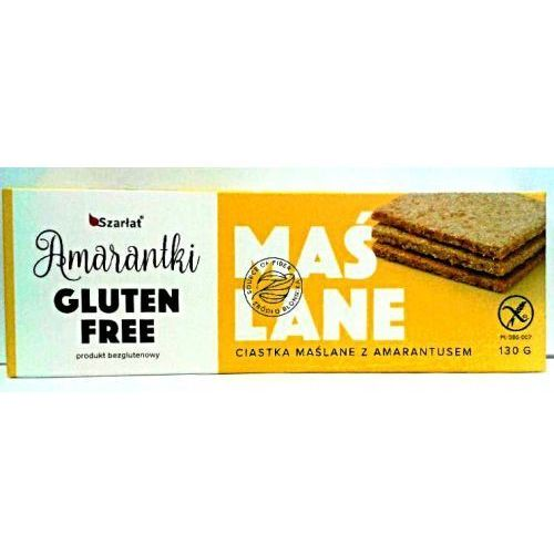 Amarantki - ciastka maślane z amarantusem - bezglutenowe 130g Szarłat