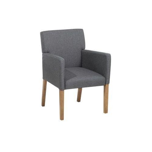 Beliani Krzesło do jadalni, kuchni szare - fotel tapicerowany - rockefeller