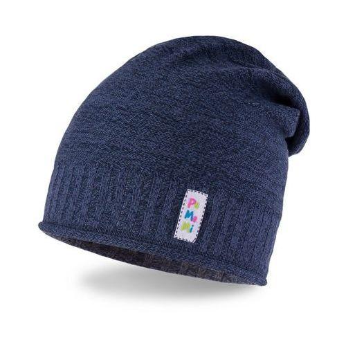 Wiosenna czapka dziewczęca PaMaMi - Ciemnoniebieski - Ciemnoniebieski, kolor niebieski