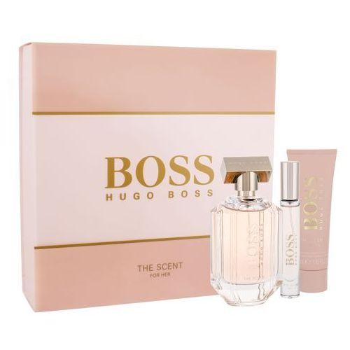 Hugo boss boss the scent for her zestaw edp 100 ml + balsam do ciała 50 ml + edp 7,4 ml dla kobiet (8005610460321)