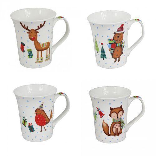 ceb9311747f468 Zobacz ofertę Kubek porcelanowy świąteczny Animal Christmas mix, CHO-LIL8951