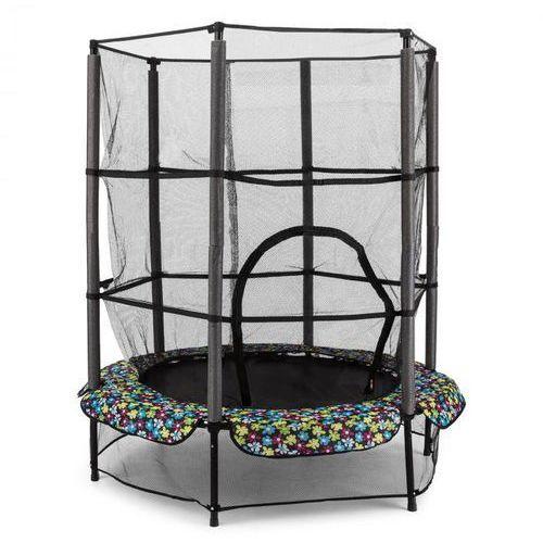 Klarfit rocketkid 5 trampolina 140cm siatka zabezpieczająca amortyzacja z liny bungee kwiatowy design