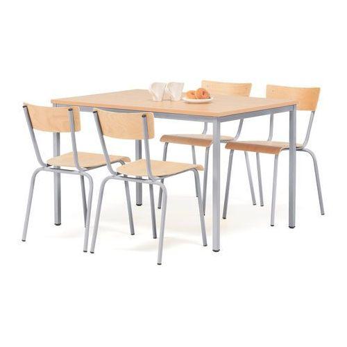 Zestaw Mebli Do Stolowki Stol 1200x800 Mm 4 Krzesla Buk Szary Aj Produkty