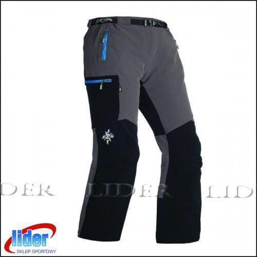 Spodnie trekkingowe damskie MILO VINO LADY grey/black red, grey/black _ zamki red
