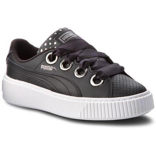 Buty PUMA - Platform Kiss Ath Lux Wn's 366704 02 Puma Black/Puma Black, kolor czarny