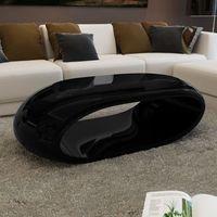 Vidaxl nowoczesny stolik do kawy, nietypowy kształt czarny, lśniący (8718475848240)