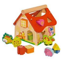 Eichhorn sorter kształtów domek, 15 elementów